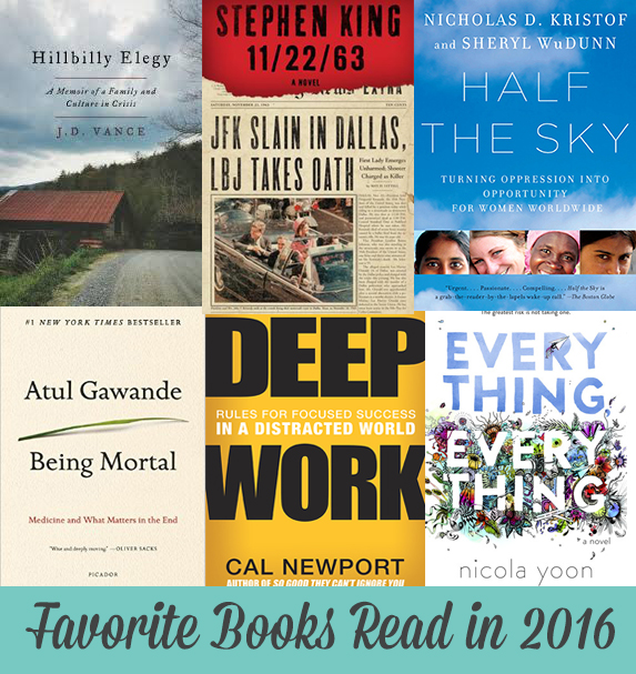 My Favorite Books Read in 2016