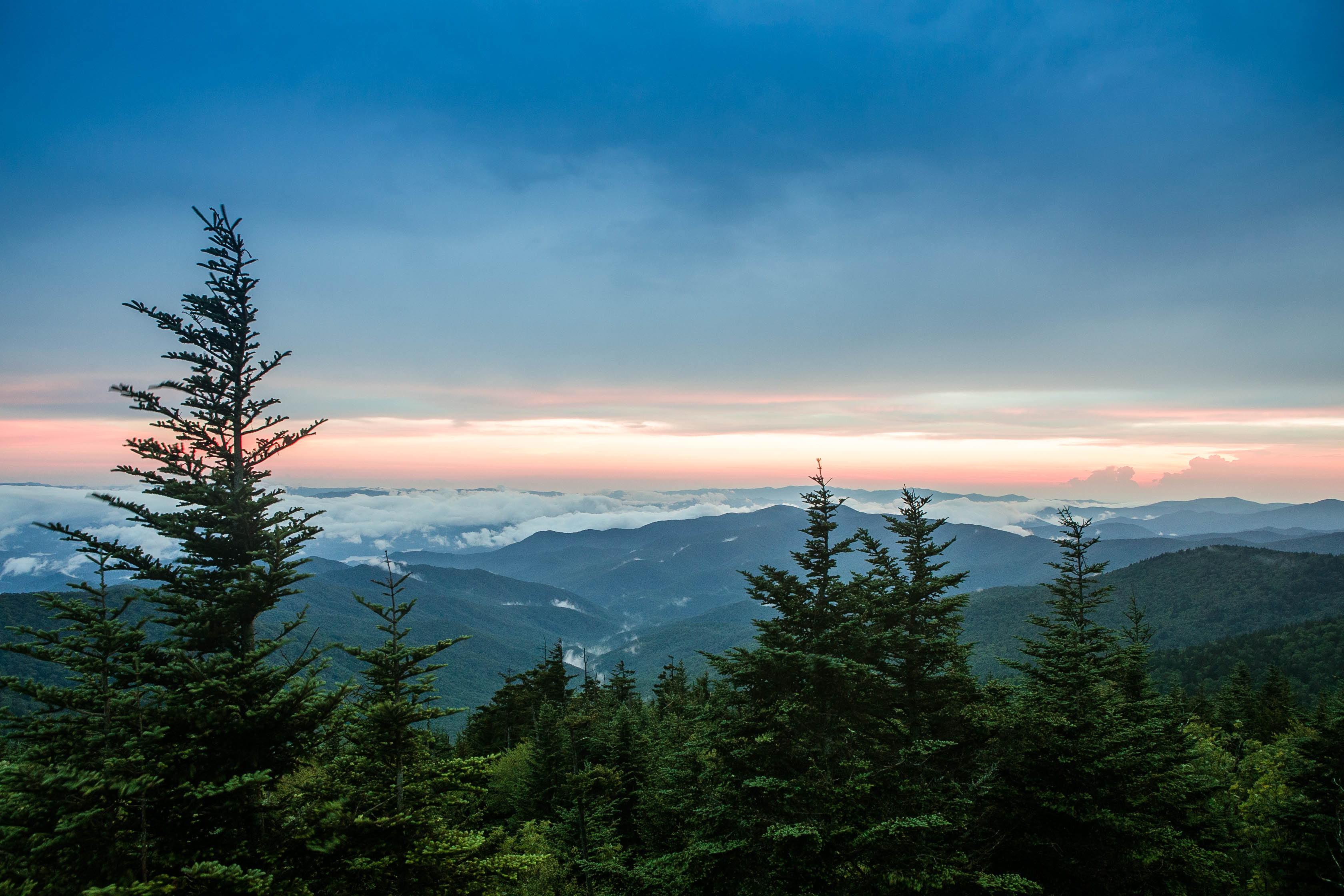 Things to do in the Smoky Moutains - visit Clingman's Dome.