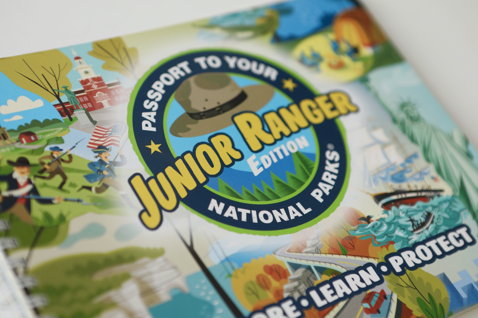 National Parks Junior Ranger Passport Book, Family Trip, Gift Ideas, Gift for kids